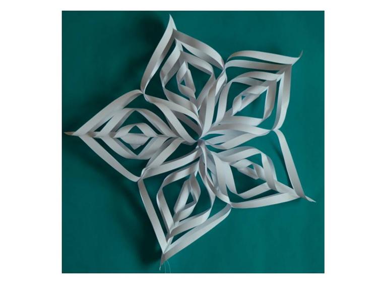 """Papierstern """"Schneeflocke"""" zum Aufhängen als Deko in der Winterzeit"""