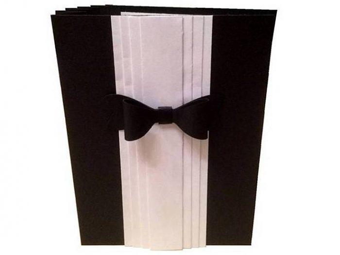 geburtstagskarte black white mit akkordeoneffekt bastelrado. Black Bedroom Furniture Sets. Home Design Ideas